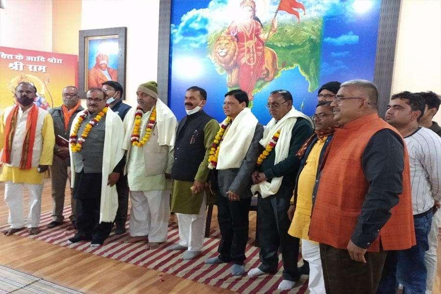 श्रीराम मंदिर आंदोलन में संघर्षशील कारसेवकों को संघ ने किया सम्मानित