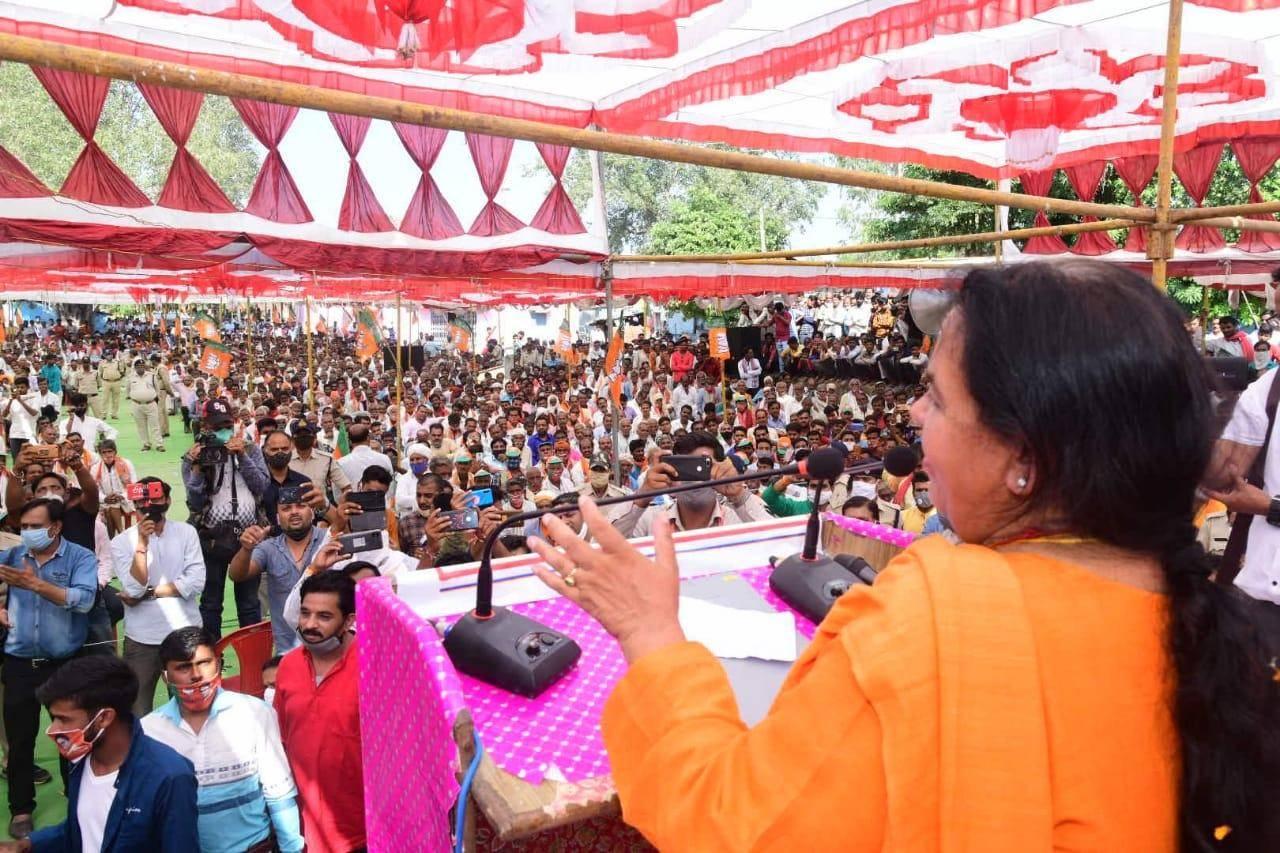 कांग्रेस को अंदाज नहीं था कि जीत जाएंगे, इसलिए बड़े-बड़े वादे कर लिएः उमा भारती