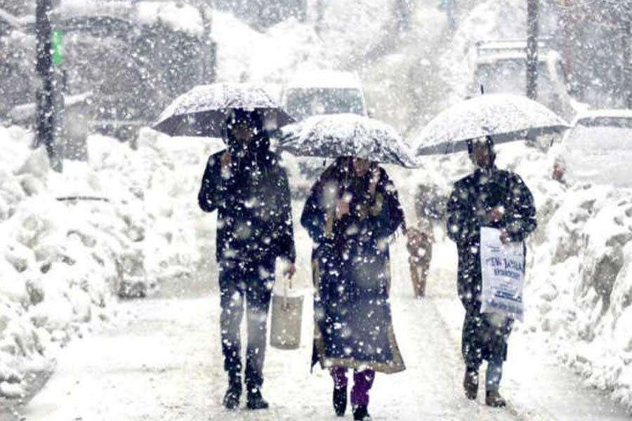 22 की शाम से 25 जनवरी की शाम तक जम्मू-कश्मीर में बारिश तथा बर्फबारी की संभावना